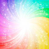 Abstract rainbow background with sparks and glares eps10 vector 