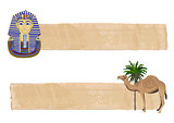 Tutankhamun and Camel Banners 