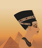 Nefertiti and the Pyramids 