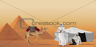 Bedouins and the Pyramids