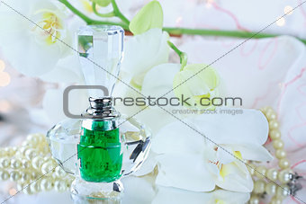 Perfume and white orchids