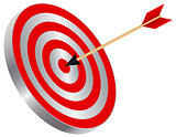 Arrow on Target Bullseye Illustration