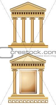 Antique Temple Facade