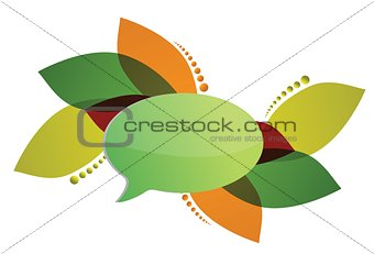 abstract composition with speech bubble