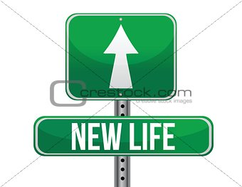 start new life road sign