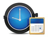 office clock and calendar