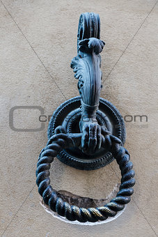 Metal Ring to Tie Horses in Siena, Tuscany, Italy