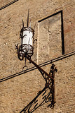 Old Iron Lantern in Siena, Tuscany, Italy