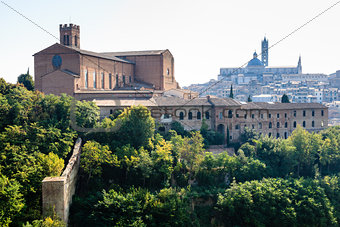 Panoramic View of Santa Maria Cathedral and City of Siena, Tuscany