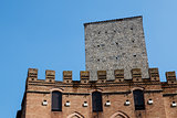 Fortified Medieval Houses in the City of Siena, Tuscany, Italy