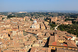 Aerial View on Rooftops and Houses of Siena, Tuscany, Italy