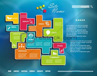 Corporate Website template. Creative Multifunctional Media desig