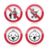 Warning sign: no babies, no children