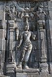 Boddhisattva image in Candi Sewu Buddhist complex, Java, Indone