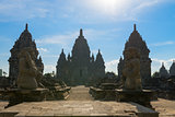 Entrance Candi Sewu Buddhist complex in Java, Indonesia