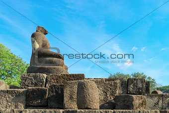 Buddha statue without head, Candi Sewu complex in Java, Indonesi