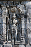 Boddhisattva image in Candi Sewu Buddhist complex, Java, Indones