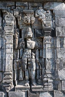 Boddhisattva image in Candi Sewu Buddhist complex, Java, Indones