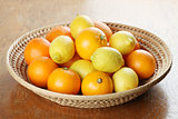 Citrus fruits in a basket