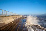 Sea wall at Southwold, Suffolk, England