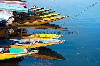 Boats at the Dal Lake Srinagar