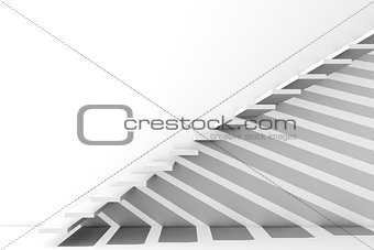 Render of a stairway