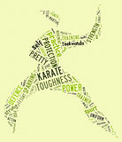 Karate pictogram on green background