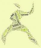 Karate pictogram on green background