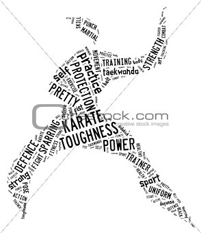 Karate pictogram on white background