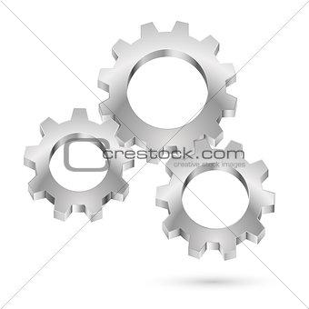 Chrome gearwheel