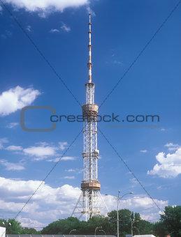 Television tower in Kyiv, Ukraine.
