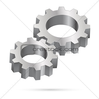Chrome gearwheel