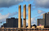 brick smokestacks