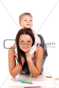 Happy mother with a child