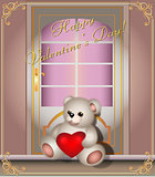 Greeting card with a Teddy bear