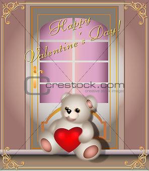 Greeting card with a Teddy bear