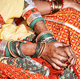 Hands of a young Indian woman.
