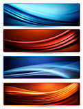 Set of business elegant colorful abstract banners