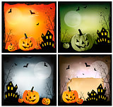 Halloween banners. Vector