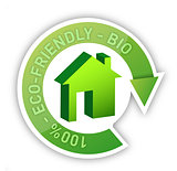 Eco home bio friendly house concept