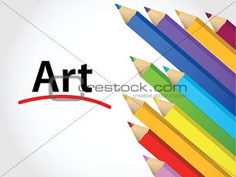art Multicolored pencils