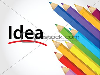 idea Multicolored pencils