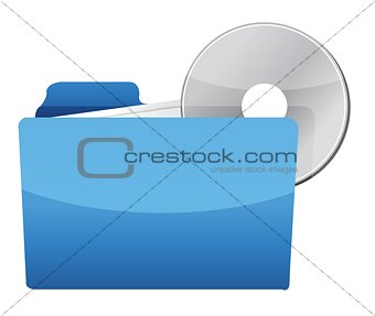folder with CD