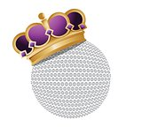golf ball with a crown