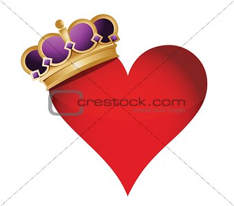 heart with a crown