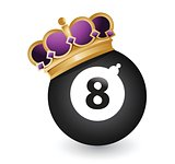 eight ball with a crown