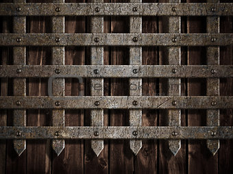 medieval castle wall or metal gate background