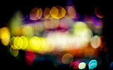 night light defocused bokeh background