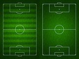 Soccer or football field or pitch top view with proper markings 