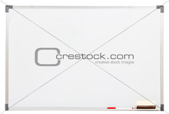 blank white board isolated on white